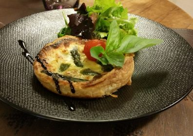 COD AND ASPARAGUS TART
